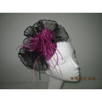 Wholesale Black Pink Fascinator Hats For Women With Sinamay Base , Soft Feather For Carnival from china suppliers