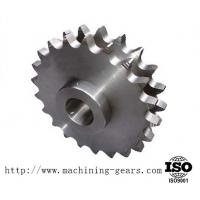 Wholesale Machining Carbon Steel Double Sprocket Chain Wheel For Transmission from china suppliers