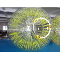 Wholesale Inflatable Human Sized Hamster Ball Yellow Shinning 0.8mm Thickness from china suppliers