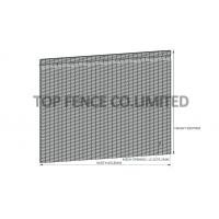 Wholesale Q235 Steel 358 Anti - climb ClearVu Security Fence 4.00mm , 3.00mm Diameter from china suppliers