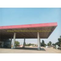 prefabricated space frame steel structure petrol station construction