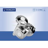 Wholesale Manual Butterfly Valve Sanitary With Fine Turn Handles , Stainless Steel Valves from china suppliers