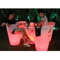 Wholesale IP56 Outdoor LED Furniture Illuminated Cocktail Table with 4400MAH Battery from china suppliers