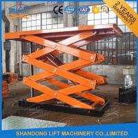 Wholesale 4T 7m Stationary Scissor Lift Table Vertical Cargo Lifting Elevator from china suppliers