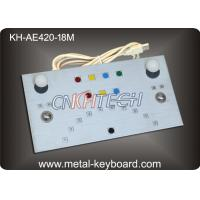 Wholesale Vandalism proof Metal panel Industrial Metal keyboard 18 Keys with USB / PS2 Interface from china suppliers