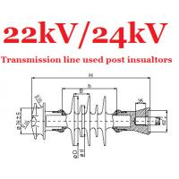 Wholesale Electric Transmission Line Cross Arm Insulator Composite 22kV / 24kV from china suppliers