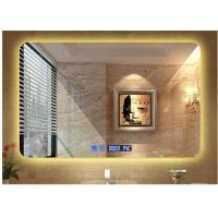 Wholesale Modern hotel illuminated waterproof mirror led square washroom mirror anti-fogging wall mirror from china suppliers