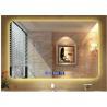 Buy cheap Modern hotel illuminated waterproof mirror led square washroom mirror anti-fogging wall mirror from wholesalers