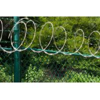 Wholesale Low Carbon Steel Fence Security Wire , Hot Dipped Galvanised Razor Wire from china suppliers
