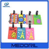 Wholesale Hot selling free printable silicon rubber luggage tag with custom logo from china suppliers