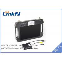 Wholesale AES256 Encryption COFDM Receiver , wireless av transmitter receiver 10.1 Inch LCD Screen from china suppliers