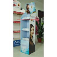 Wholesale Promotional corrugated floor displays for Shampoo , Haircare store display racks supermarket from china suppliers