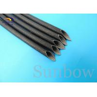 Wholesale 5.0mm Saturated Black Silicone Resin Fiberglass Sleeving 2500V from china suppliers