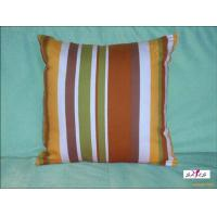 Wholesale Small Brown Stripe Plain Custom Decorative Pillows for Bed from china suppliers