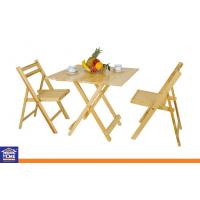 Wholesale Wood Square Folding Dinning Table and Chairs Sets , Dining Room Wooden Table with Chairs from china suppliers