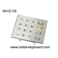 Quality IP65 Rated Rugged Metal Numeric Keypad , 16 Keys Digital keypad for sale