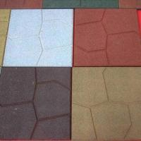 China Rubber Paver for Patios or Walkways, with Water-permeable, Long Lifespan and Anti-UV/-slip on sale