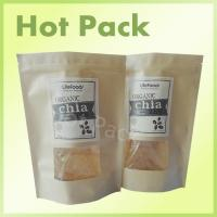 Wholesale Food Grade Brown Kraft Paper Pouch Bag With Window For Chia Seeds from china suppliers