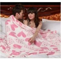 Wholesale Adults Woven Polyester Throw Blanket Coral Fleece With EU / US Style from china suppliers