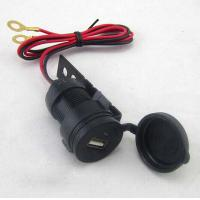 Wholesale 12V-24V Waterproof USB Charger cable 2.1A Black For Motorcycles from china suppliers