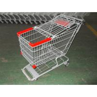 Quality grey powder color Shopping Trolley/Shopping Cart with baby seat for sale