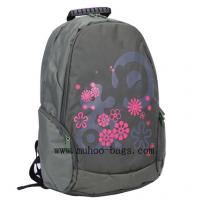 Wholesale Fashion Grey Nylon laptop computer backpack bag  for travel (MH-2052) from china suppliers