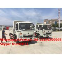 Wholesale High quality and good price customized SINO TRUK HOWO 4tons dump tipper truck, Factory sale lower price HOWO tipper from china suppliers