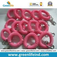 Wholesale Stretchable Solid Pink Wrist Strap Coil Retainer W/Snap Hook from china suppliers