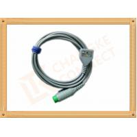 Wholesale Fukuda 12 Pin ECG Patient Cable 3 Leads Gray Color CK-03-330 PN , Fast Response from china suppliers