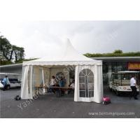 Wholesale Wind Load White PVC Fabric Aluminum Frame High Peak Tents Flame Retardant from china suppliers