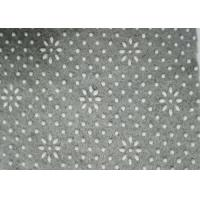 Quality 4mm Thicks Light Gray Felt Backed Carpet Underlay With White Floral Dots for sale