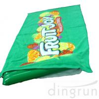 Wholesale Green Color Roll Up Promotional Beach Towels Mat Neck Pillow Environment Friendly from china suppliers
