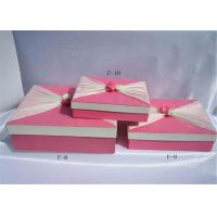 Wholesale Pink Biodegradable Cardboard Paper Folding Gift Boxes For Stationery from china suppliers