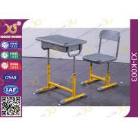 Wholesale Height Adjustable Single Student Desk And Chair Set Free Standing from china suppliers