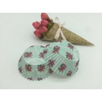 Buy cheap Navy Color Rose Pattern Paper Cupcake Liners Muffin Paper CupsToppers Wedding Decorating Kit from wholesalers