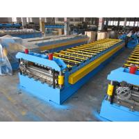 Quality 0.3-0.8mm Roof Panel Roll Forming Machine Surface Chrome Manual Decoiler for sale