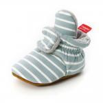 Wholesale cheap Cotton fabric striped print socks soft sole prewalk boy girl
