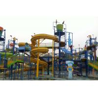 Wholesale Water Playground Equipment With Fiberglass Spiral Water Slide , Water Amusement Park from china suppliers