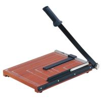 Wholesale Wooden Base Guillotine Manual Paper Cutter 12 Sheets Cutting Capacity from china suppliers
