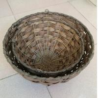 Wholesale Hot sale China manufactured Round shape brown color hanging flower planter, hanging baskets from china suppliers