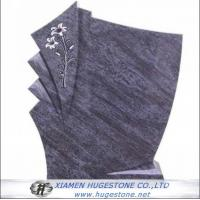 Wholesale Regular G602 Flower Carved Granite tombstone from china suppliers