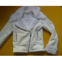 China 100 Polyester Bomber Jacket , Suede And Fur Joint Ladies Hooded Jacket on sale