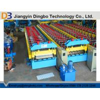 Wholesale Hydraulic Control Roof Panel Roll Forming Machine Automatic Stacking Machine Chain Transmission from china suppliers