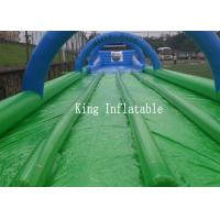 Wholesale Custom 1200m Inflatable Slip N Slide PVC Tarpaulin Four Lanes Inflatable Slip Slide from china suppliers