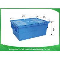 Wholesale Stardard Blue Large Plastic Storage Containers , Space Saving Plastic Bin Storage from china suppliers