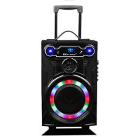 Buy cheap Led Lights Wooden Portable Wireless PA System With Trolley / Bluetooth Function from wholesalers