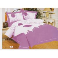 Wholesale Bedroom Designer Purple Floral Embroidered Cotton Queen Bed Linen Sets from china suppliers