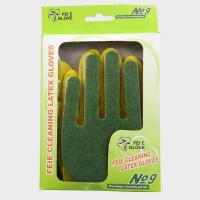 China Women Household Cleaning Latex Gloves With Sponge Scouring Pad , Durable on sale