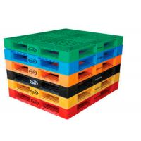 Wholesale Durable Nestable Industrial Plastic Pallets , Plastic Euro PalletsFor Transportation / Storage from china suppliers