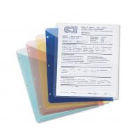 Wholesale Poly Translucent Slash File Jacket, Three-Hole Punched, Letter Size, Assorted Colors, 5 p from china suppliers